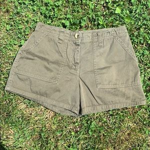Vintage high waisted flat front shorts